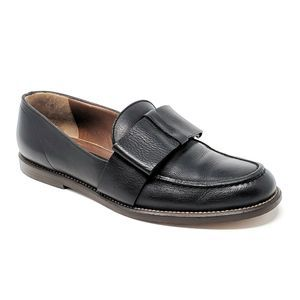 Marni Bow Loafers Slip On Shoes Leather Black